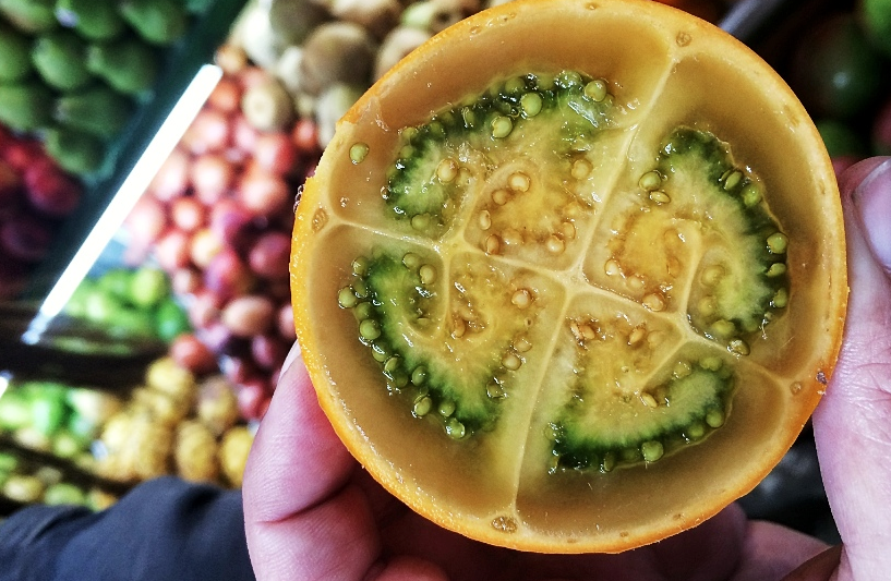 Solanum quitoense o pulo, que crece en zonas andinas .