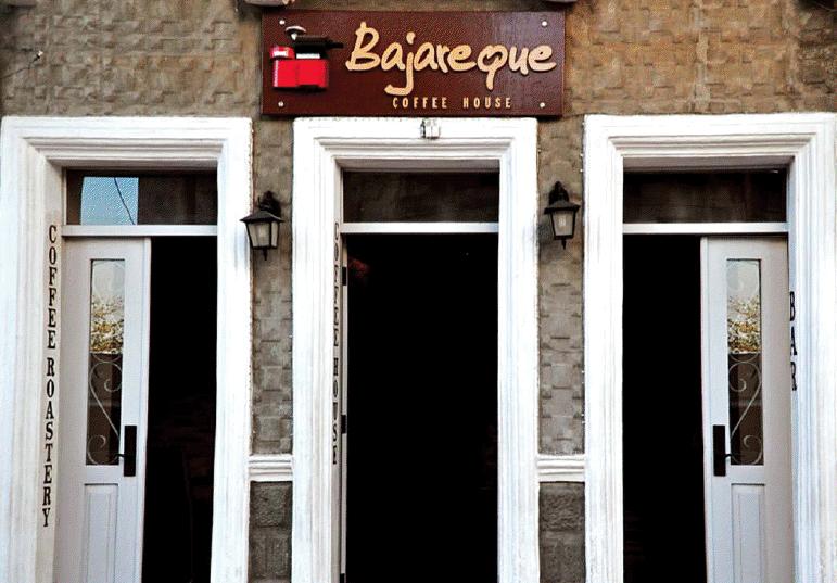 Fachada del café Bajareque.